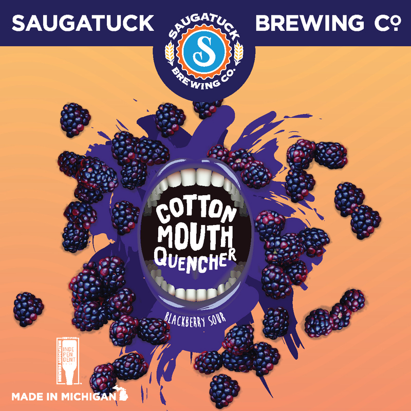 Saugatuck Cotton Mouth Quencher Blackberry beer Label Full Size