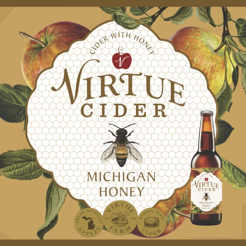 Photo of Virtue Cider Michigan Honey Beer Label