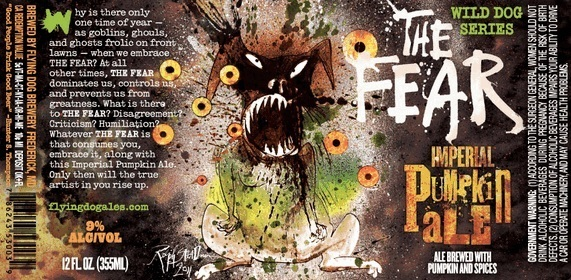 Flying Dog The Fear Imperial Pumpkin Ale Nitro beer Label Full Size