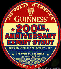 Guinness 200th Anniversary Export Stout beer Label Full Size