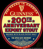 Guinness 200th Anniversary Export Stout beer