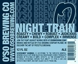 Oso Night Train Porter Nitro beer