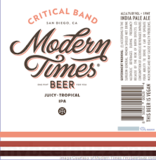 Modern Times Critical Band Beer
