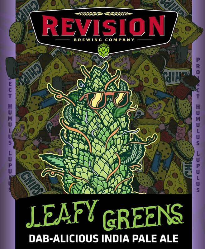 Revision Leafy Greens beer Label Full Size