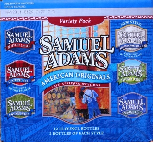 Sam Adams Variety Pack beer Label Full Size