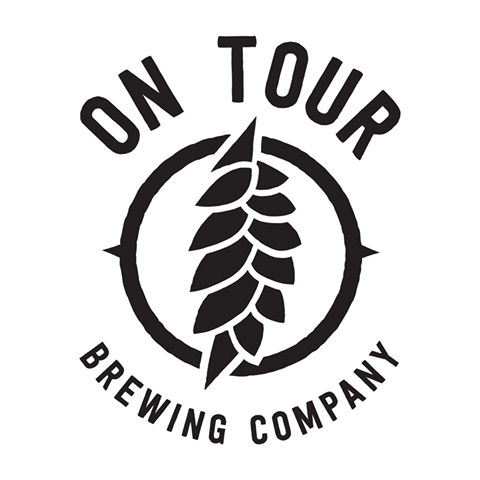 On Tour Cymbals and Saxophones beer Label Full Size
