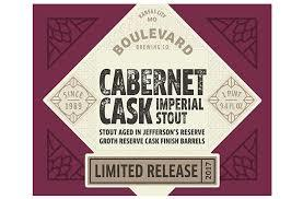 Boulevard Cabernet Cask Imperial Stout beer Label Full Size