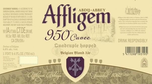 Affligem Cuvée 950 beer Label Full Size