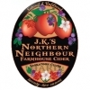 J.K.'s Scrumpy Northern Neighbour Saskatoon Cuvee beer Label Full Size
