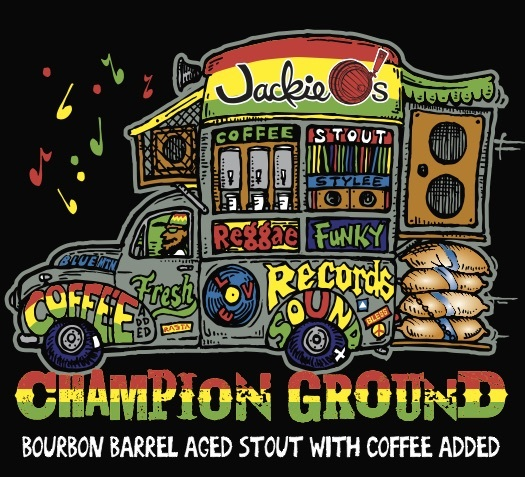 Jackie O's Coconut Champion Ground beer Label Full Size