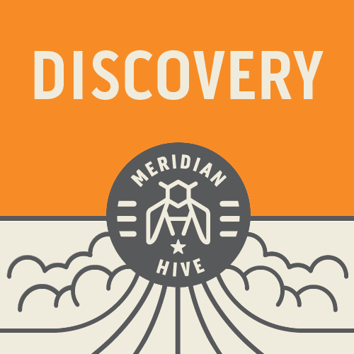 Meridian Hive Discovery beer Label Full Size