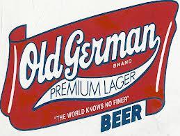 Old German Premium Lager beer Label Full Size