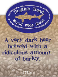Dogfish Head World Wide Stout 2007 beer Label Full Size