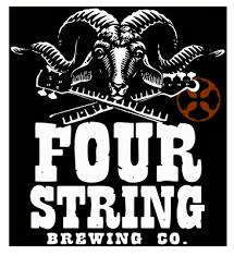 Four String Rumblestrip Barleywine beer Label Full Size