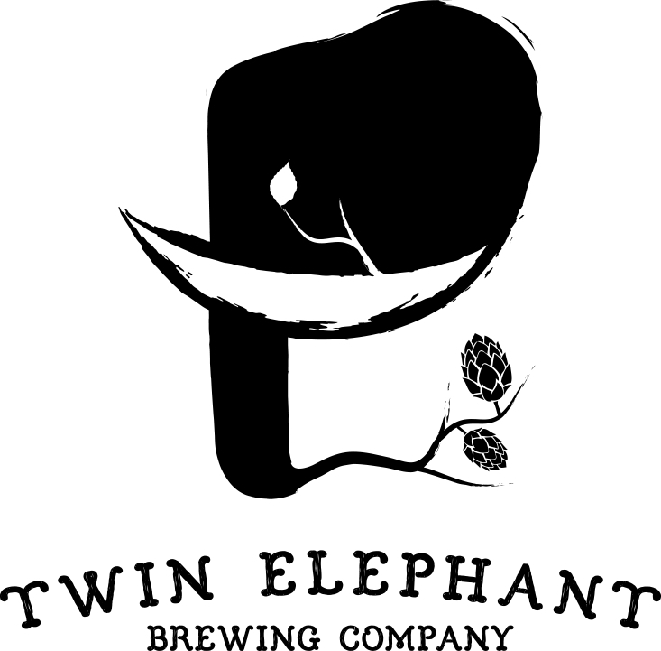 Twin Elephant Bobby the Brain beer Label Full Size
