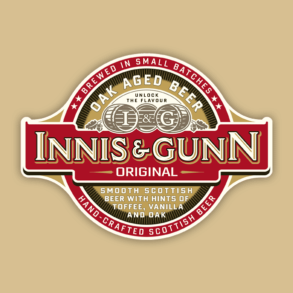 Innis & Gunn Original beer Label Full Size