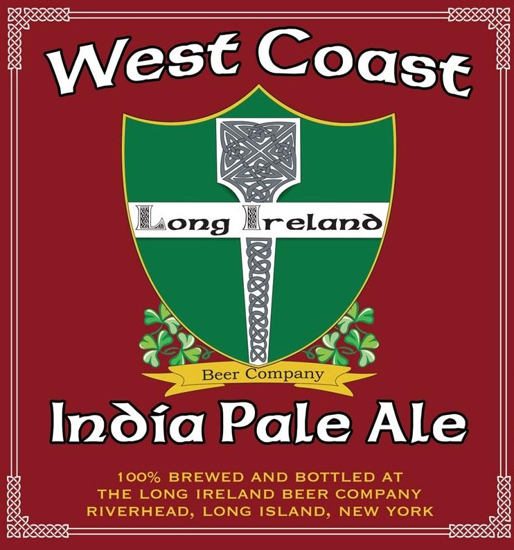 Long Ireland IPA beer Label Full Size