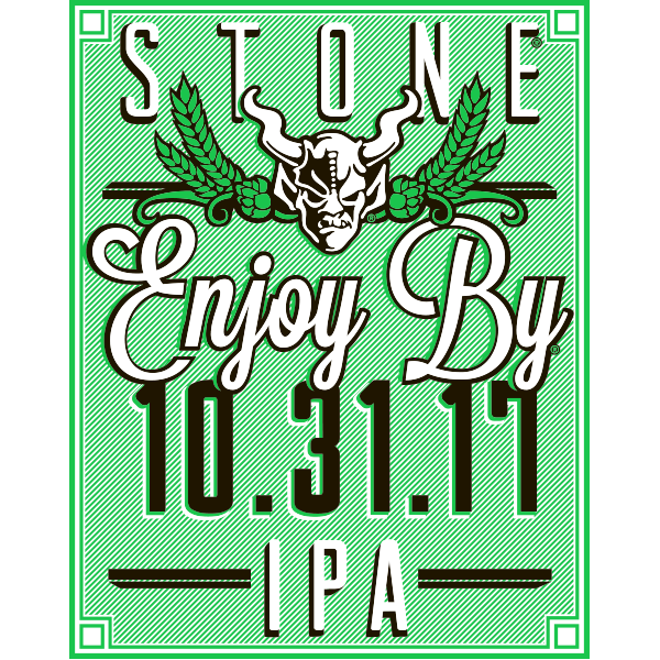 Stone Enjoy By 10.31.17 beer Label Full Size