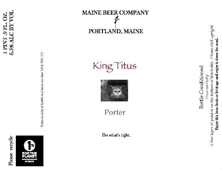 Maine King Titus Beer