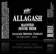 Allagash Haunted House beer Label Full Size