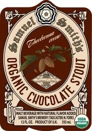 Samuel Smith's Organic Chocolate Stout beer Label Full Size