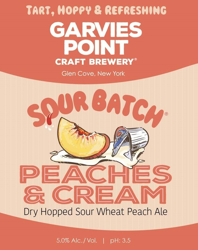 Garvies Point Sour Batch Peaches & Cream beer Label Full Size