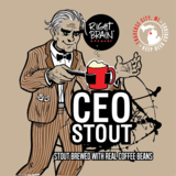 Right Brain CEO Stout beer