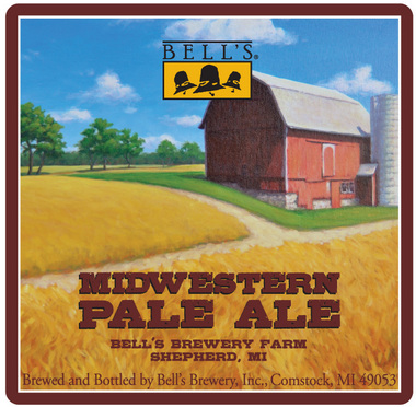Bell's Midwestern Pale Ale beer Label Full Size