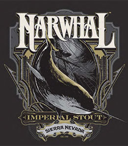 Sierra Nevada Narwhal Imperial Stout beer Label Full Size