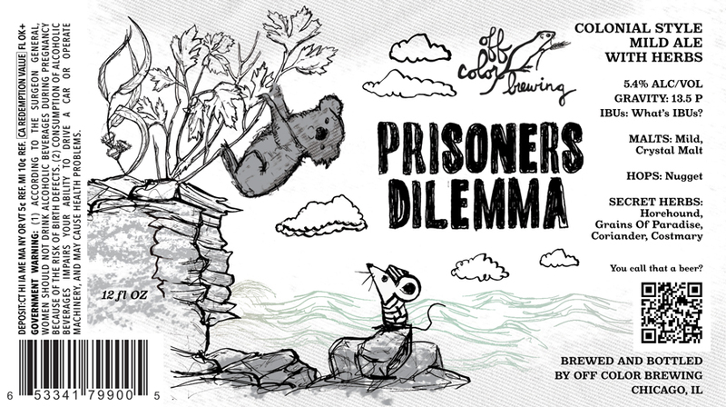 Off Color Prisoner's Dilemma beer Label Full Size