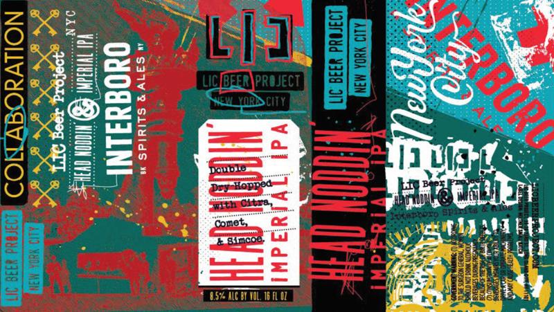 LIC Beer Project/Interboro Spirits & Ales Head Noddin' beer Label Full Size