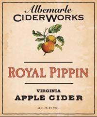 Albemarle Ciderworks Royal Pippin beer Label Full Size