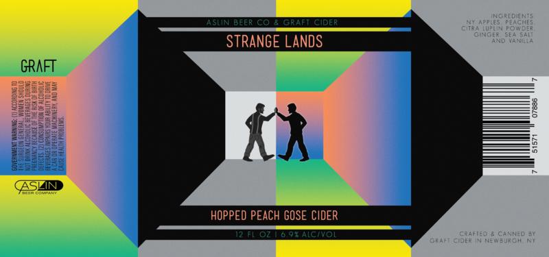 Graft & Aslin Strange Lands beer Label Full Size