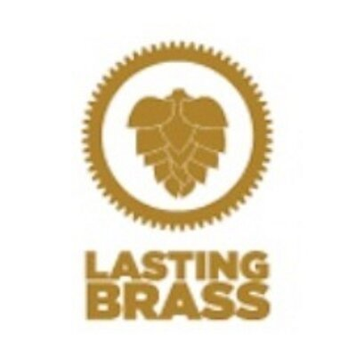 Lasting Brass Weisse Words Guava Citra beer Label Full Size