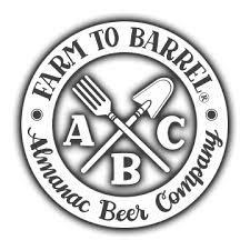Almanac Bourbon Barrel Peche beer Label Full Size