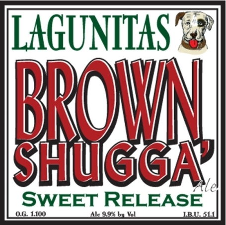 Lagunitas Brown Shugga' beer Label Full Size