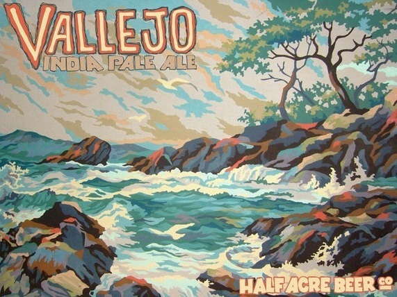 Half Acre Vallejo IPA beer Label Full Size