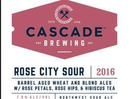 Cascade Rose City Sour beer Label Full Size