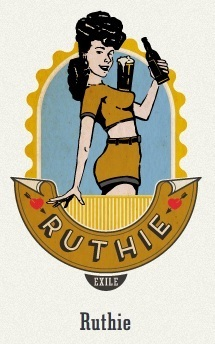 Exile Ruthie Munich Gold beer Label Full Size