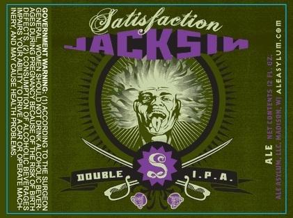 Ale Asylum Satisfaction Jacksin beer Label Full Size
