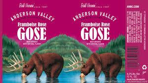 Anderson Valley Framboise Rose Gose Beer