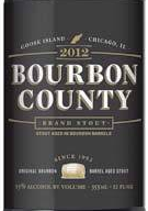 Goose Island Bourbon County Stout 2012 beer Label Full Size