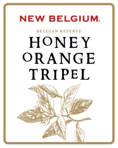 New Belgium Honey Orange Tripel beer Label Full Size
