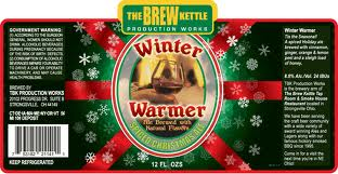 The Brew Kettle Winter Warmer Spiced Christmas Ale beer Label Full Size