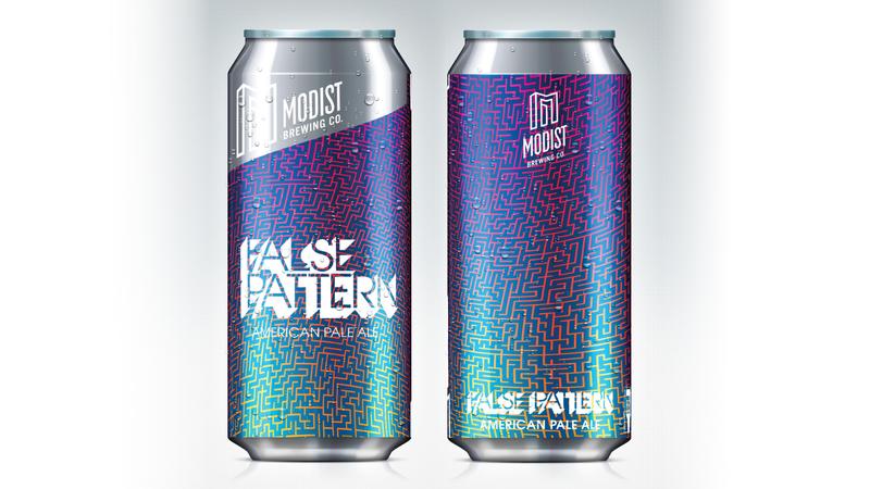 Modist False Pattern beer Label Full Size