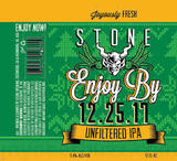 Stone Enjoy By 12.25.17 Unfiltered IPA Beer