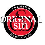 Original Sin Dry Rose Cider beer Label Full Size
