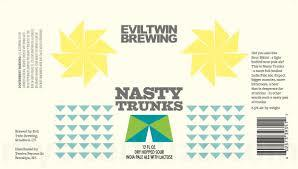 Evil Twin Nasty Trunks beer Label Full Size