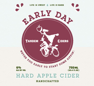 Tandem Early Day beer Label Full Size