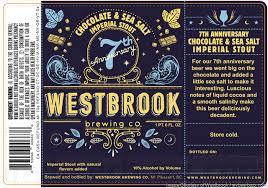 Westbrook 7th Anniversary Salted Chocolate Imperial Stout beer Label Full Size